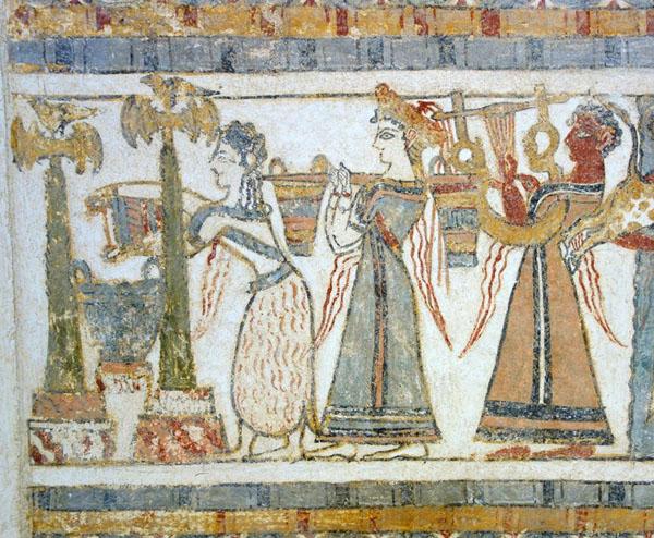 фреска-жертв. процессия- кносс