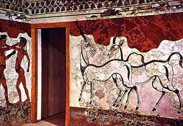 фреска-козы-Santorini -греция