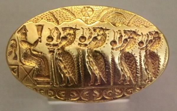перстень Микены- 15 века до н.э. - шествие Лвов к царице