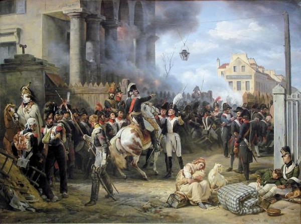 Оборона заставы Клиши в Париже в 1814 г. Художник О. Верне.