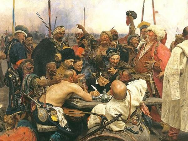 запорожские казаки пишут письмо турецкому Султану Моххамед IV