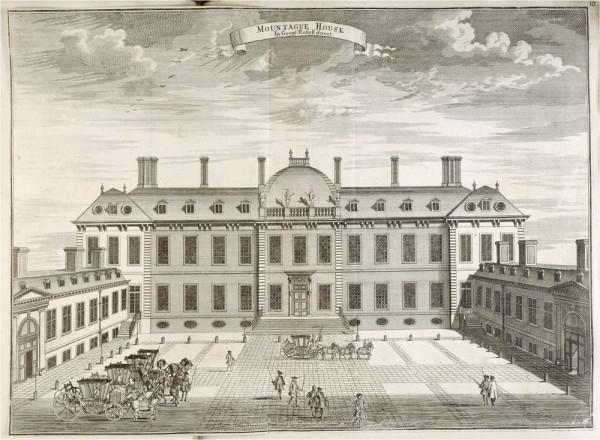 Британский музей - особняк 17-го века, Монтегю Дом, в Блумсбери