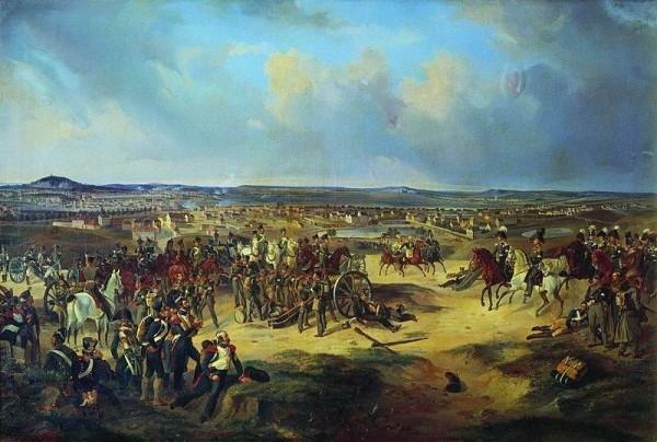 Сражение при Париже в 1814 г. Художник Б. Виллевальде, 1834 г.