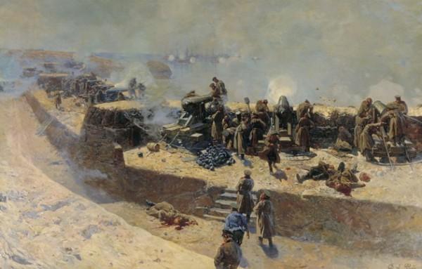 Оборонительная линия Тотлебена на панораме художника Ф.Рубо