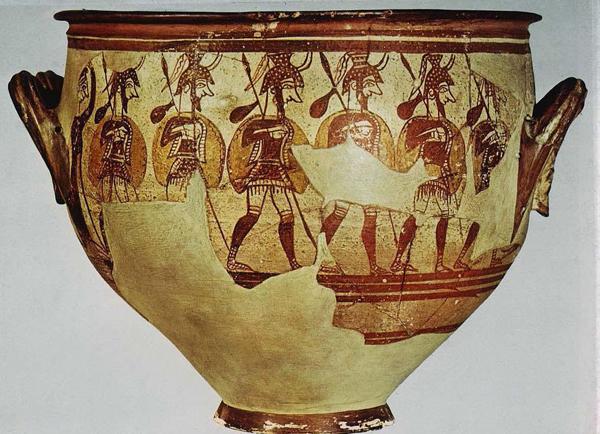 1200 г. до н.э. Микены. Кратер воинов.