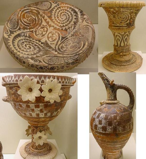 1300 г.. до н.э-вазы-Расцвет минойской керамики. Стиль камарес.