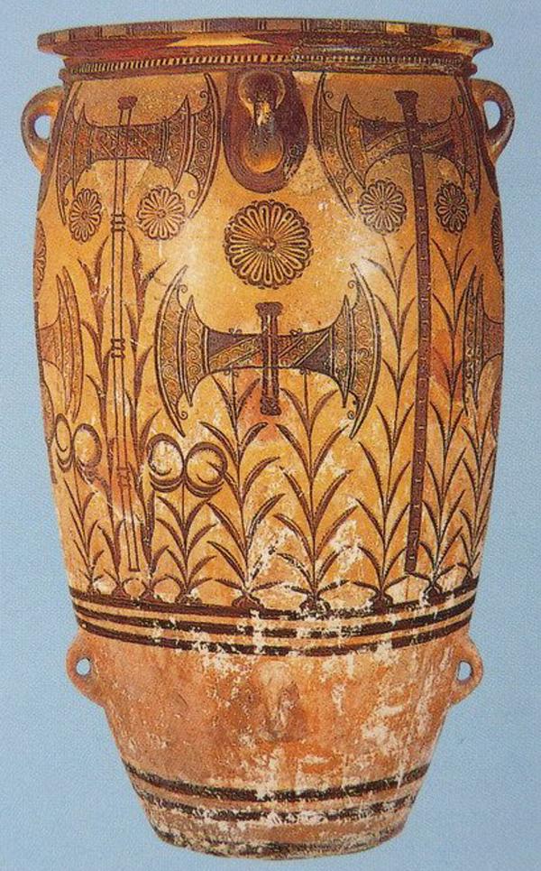 1500-1450 до н.э.-керам-c лабрисами-