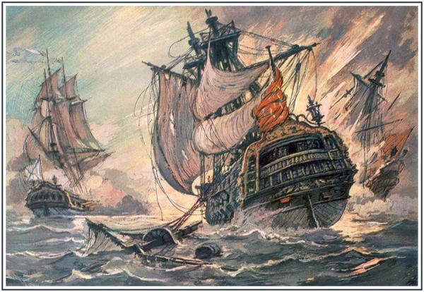 1773 г. Сражение русских с турками у Балаклавы