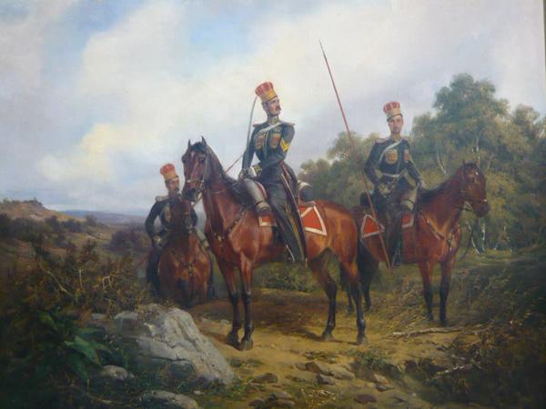 1850 - чины Крым-татар эскадр. Казачьего полка- Нем.худ. Шульц,
