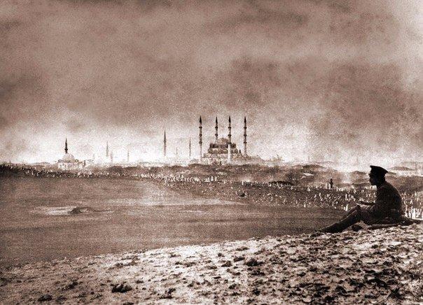 1878 года-фото-Русский солдат у Константинополя.