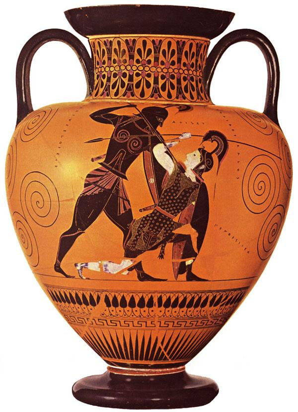 540-530 г до н.э.-Achilles killing Penthesilea. c.