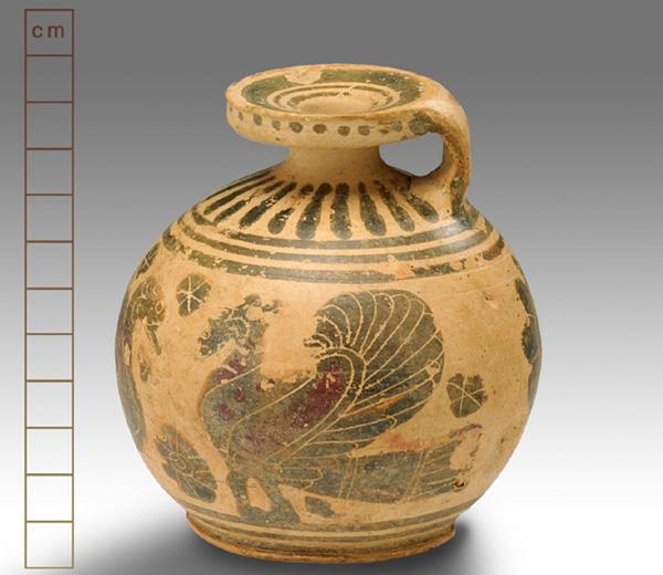 600-550 г. до н.э.Aryballos, Corinth,