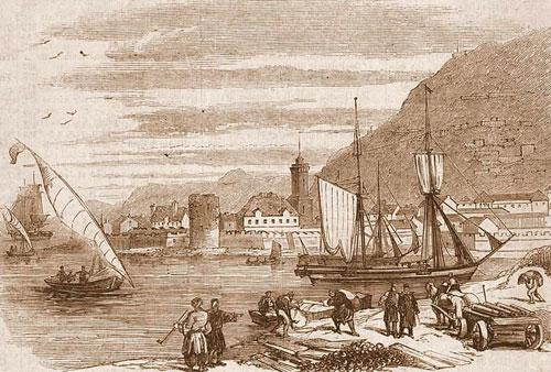 Kerch-1857-Trofei.-Вывоз трофеев из Керченской бухты в Англию