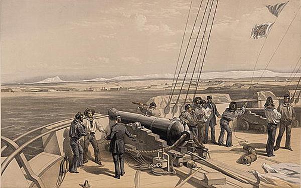 -Sebastopol from the sea - рисунок с палубы H.M.S. Sidon