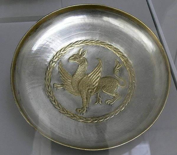 грифон-Sassaniden время персии - 500-600. До н.э