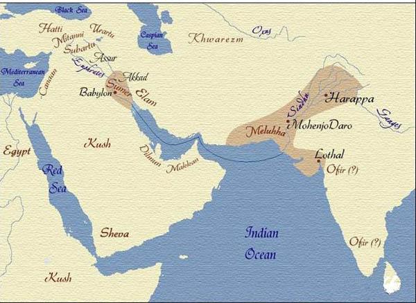 карта-1 шумер-хараппа