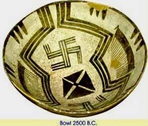чаша-2500 до н.э.-элам- свастика