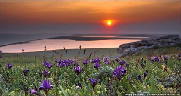 весна-Закат над Кояшским озером.-сергей