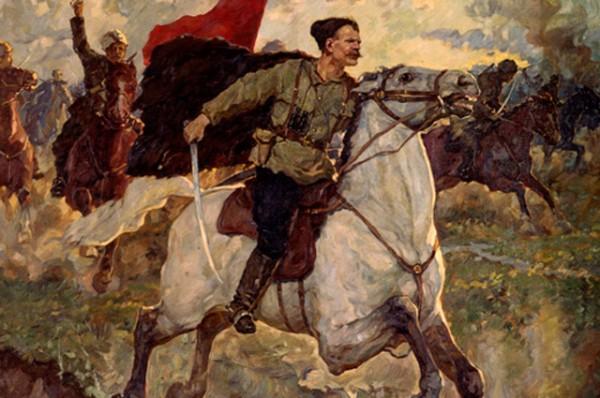 чапаев в бою-картина П Васильева