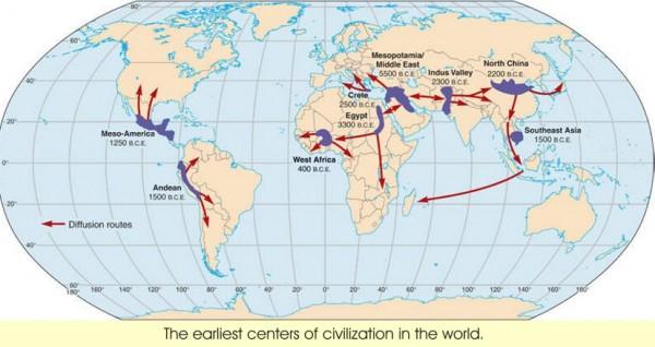 карта-древних цивилизаций