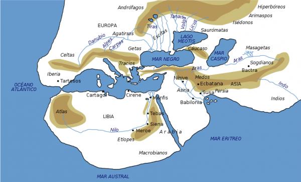 1-карт геродота - 450 г до н.э.