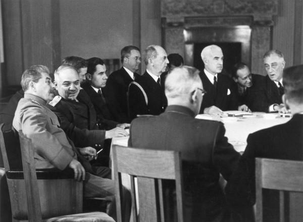 Third meeting of the three powers at Livadia Palace, Yalta, February 1945.