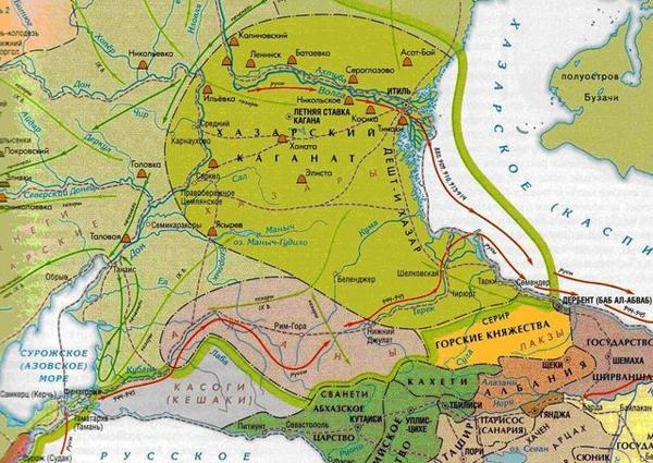 Карта 2. Хазарский каганат_