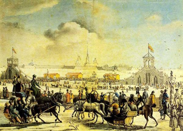 Серракаприола. Катальные горы на Большой Неве. 1817
