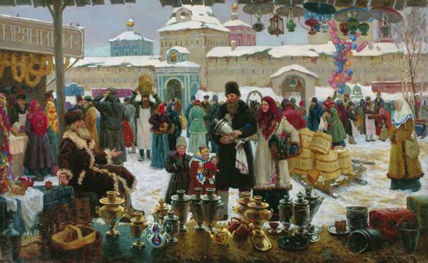 Смирнов Сергей Иванович. Зимнее гулянье.