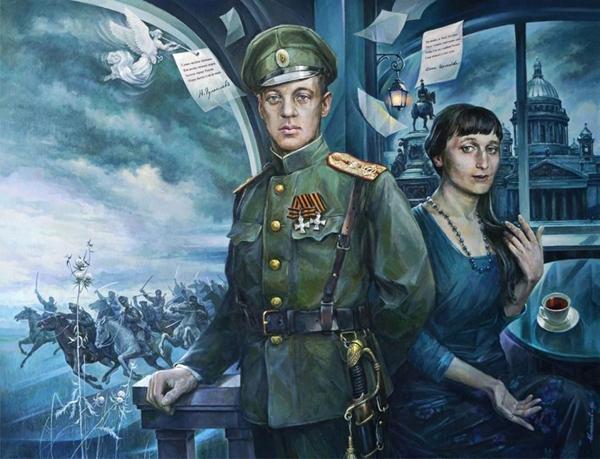 анна Ахматова и гумилёв