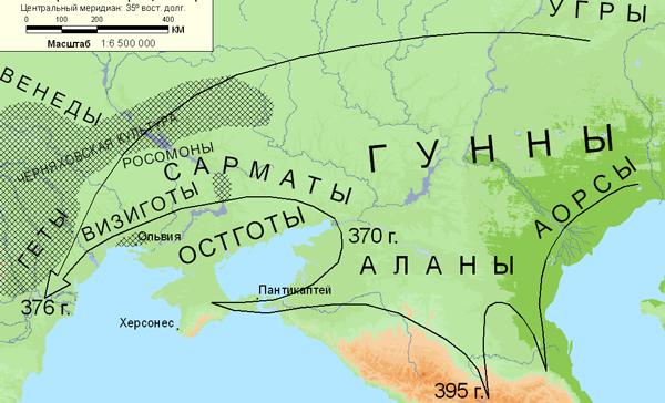 карта-гунны