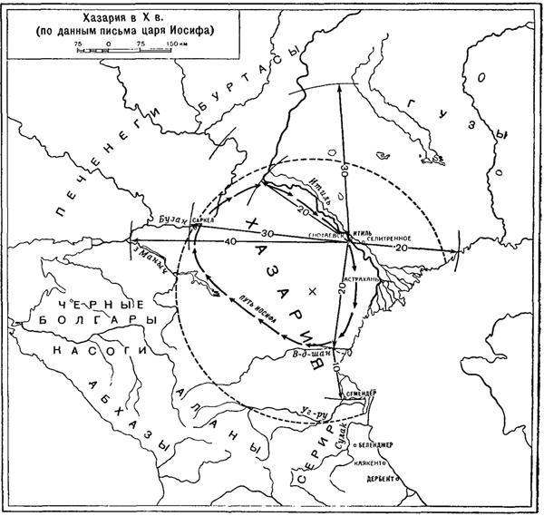 карта---расстояния-artamonov-1962-
