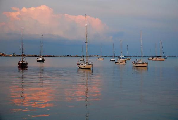 море-розовый вечер -евп