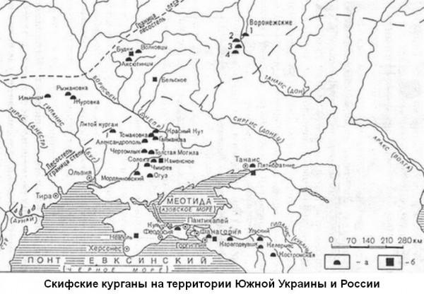карта-курганы-скифии