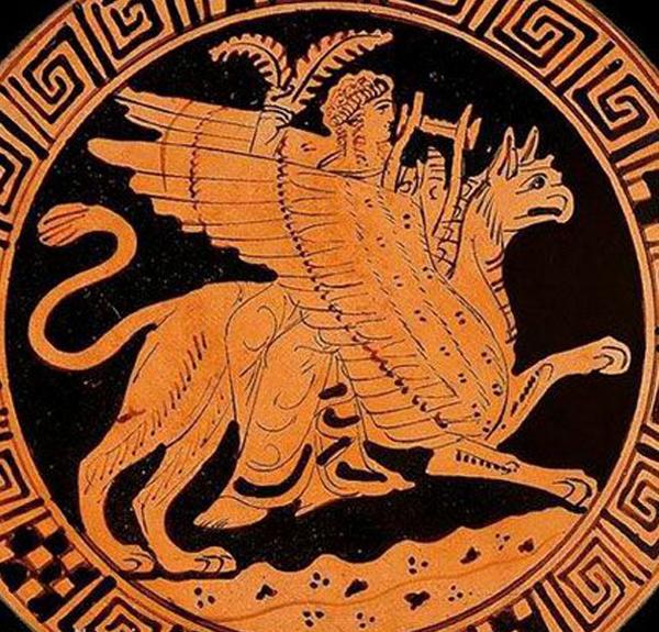 Apollon на грифоне - 380 г до н.э.