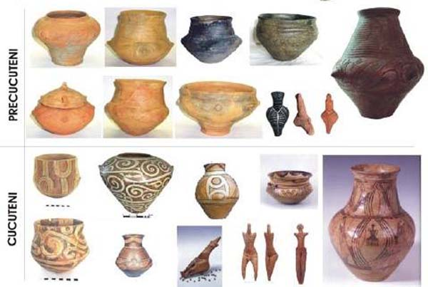 Ceramica cultura Cucuteni-периоды-