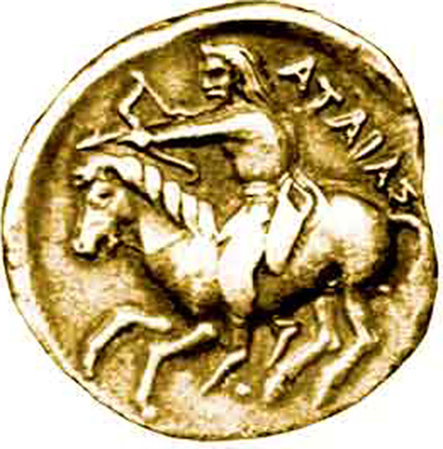 Скифия-Русь - монета царя Атея (Атаяса
