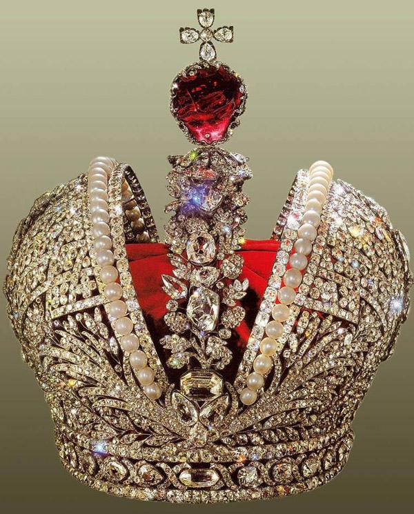 большая корона Российской Империи с 1762 до 1917 г.