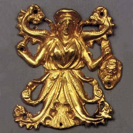 курган Куль-Оба, IV век до н. э.- Змееногая богиня Апи