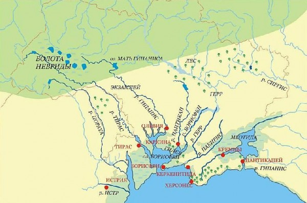 карта - реки-скифии