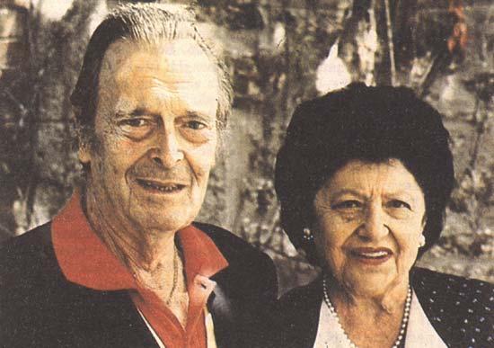 Князь Владимир Кириллович и Леонида Георгиевна. 1992 год.