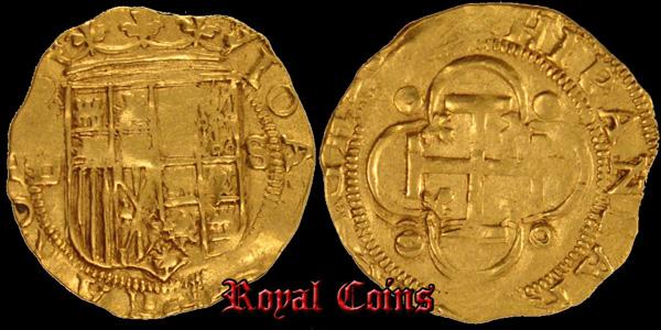 Золотой Эскудо Хуана Кастильского Безумного и Карла V 1504-1555 Севилья.