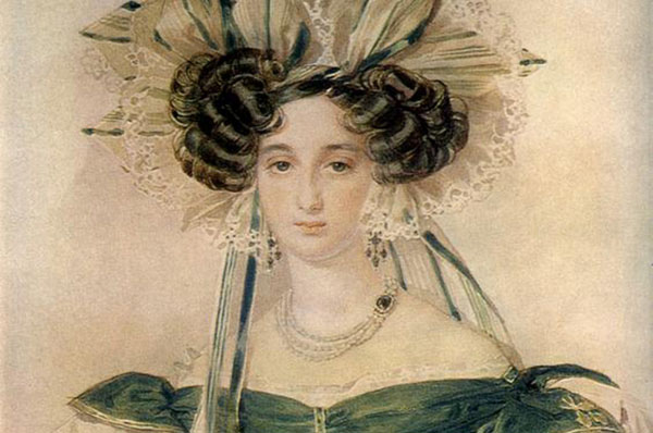 Елизавета Воронцова подарила поэту старинный перстень-печатку с сердоликом.