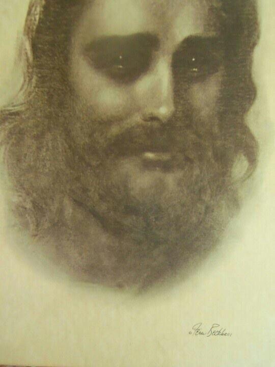 Иисус сострадающий. Художник Ферн Бекхем