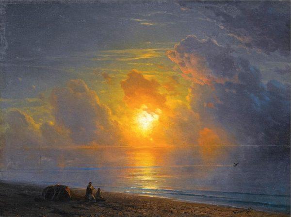 Закат над крымским побережьем - Айвазовский