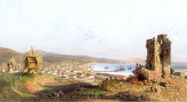 Феодосия . Карло Боссоли , 1856 год .