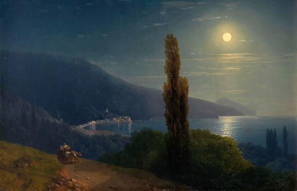 1-айвазовский-1859-Лунная ночь. Вид на Ялту