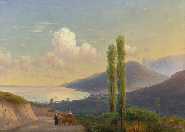 1-айвазовский-1878-Дорога в Гурзуф. Крым.