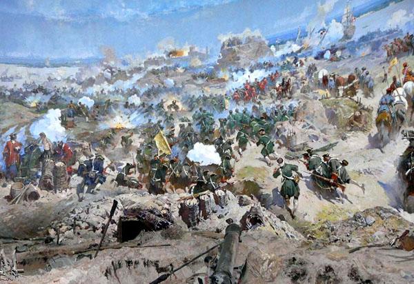 1696-Взятие турецкой крепости Азов войсками Петра I