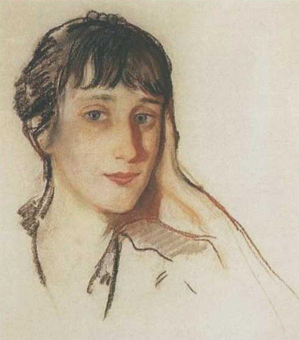 Зинаида Серебрякова. Портрет Анны Ахматовой